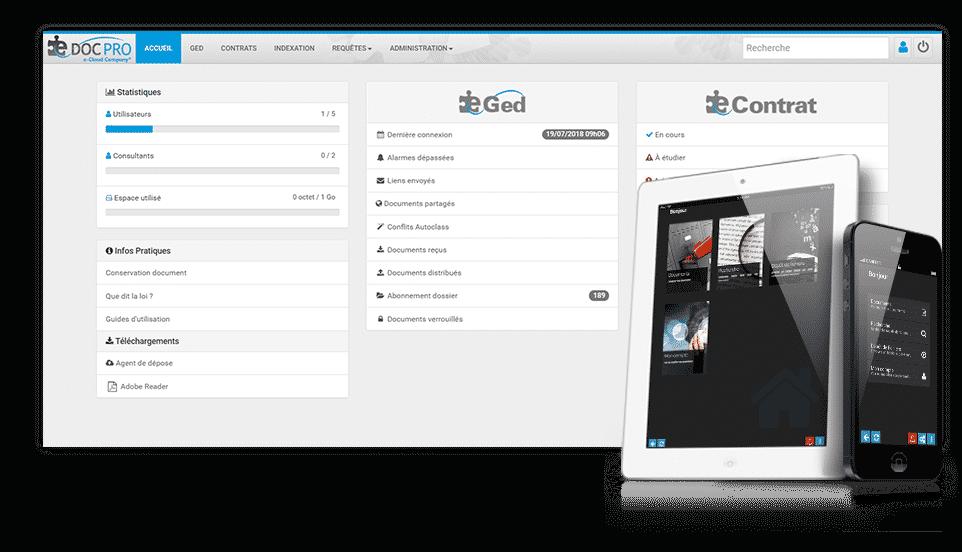 solution GED gestion électronique de document par Isiscom